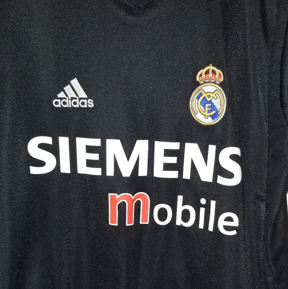 adidas Other - Throwback Real Madrid Adidas Jersey Black Siemens
